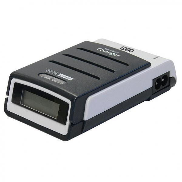 Logo, Charger, Quick Charger, for 4 units AA/AAA, NiMH/NiCd, 220V (el.síť), separate battery charging, display with indicator