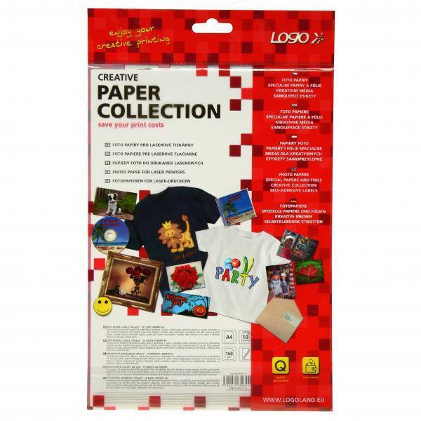 Logo photo paper, semi-glossy, white, A4, 160 g/m2, 10 pcs, laserjet