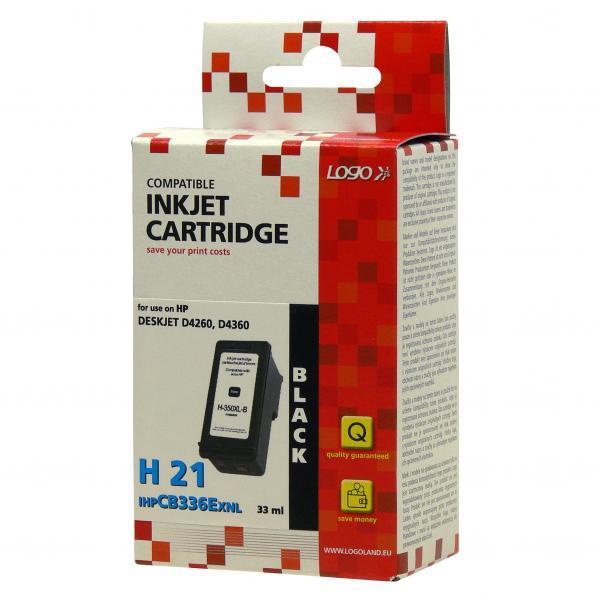 Logo kompatibel Ink mit CB336EE, HP 350XL, black, 30ml, für HP Officejet J5780, J5785