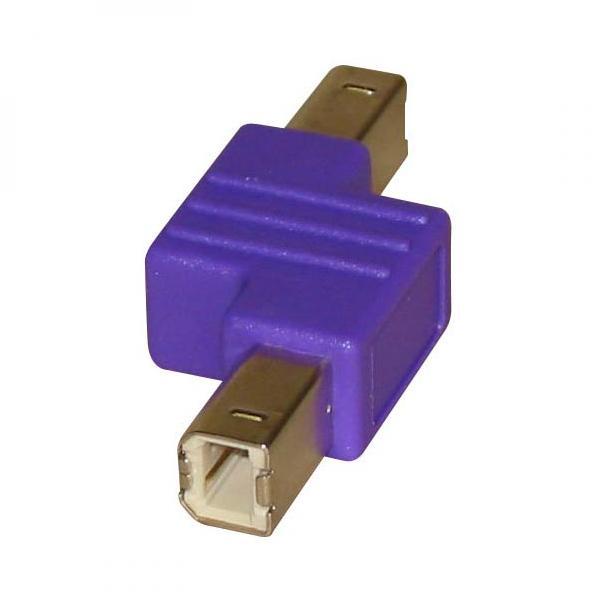 Adapter (2.0), USB A M- USB B M, 0m, violet, Logo