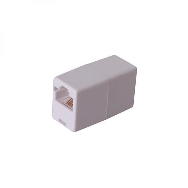Joint RJ45, white, Logo, blistr, uncrossed