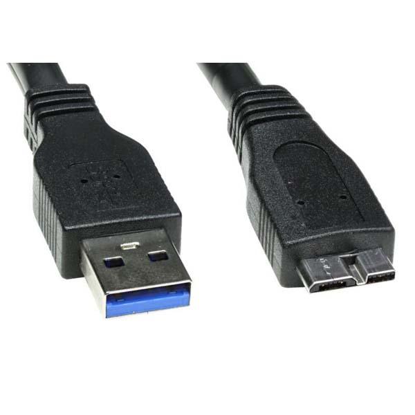 USB cable (3.0), USB A M- USB micro B M, 2m, black, Logo, blistr