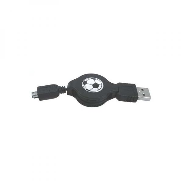 USB cable (1.1), USB A  M- 4 pin M, 0.7m, black, Logo, HIROSE