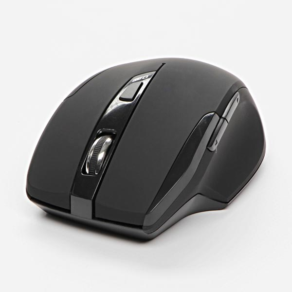 Logo Mouse Shadow, 1600DPI, 2.4 [GHz], optical, 6but., wireless, black, 2 pcs AA, SM-615AG