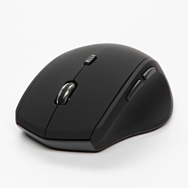 Logo Mouse Mystery, 1600DPI, 2.4 [GHz], optical, 6but., wireless, black, 2 pcs AA, SM-608AG
