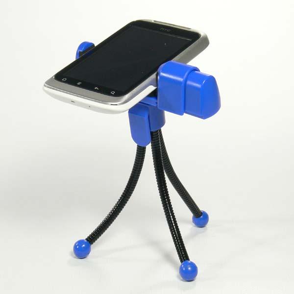 Mobile phone holder Logo desk, blue, thermoplastic, for whatever mobile phone, blue, mobil