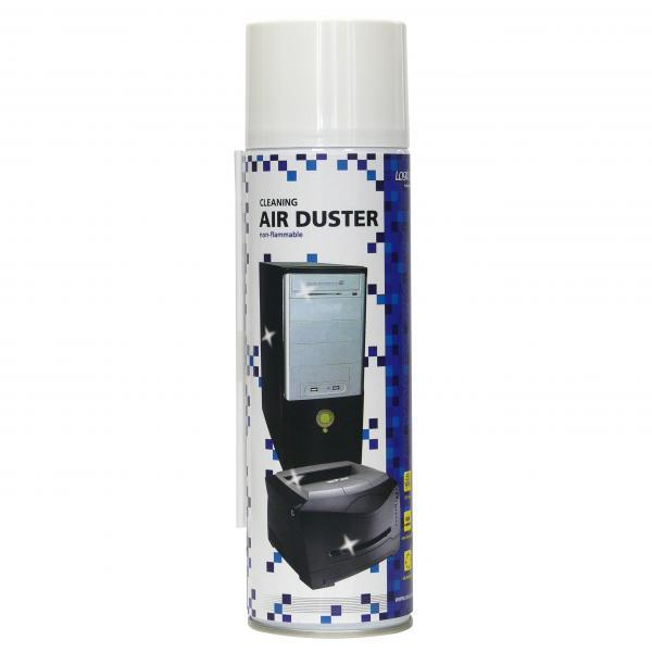 Cleaning non-flammable air duster, for hardly available places, 300 g, possibility of use with all directions, LOGO