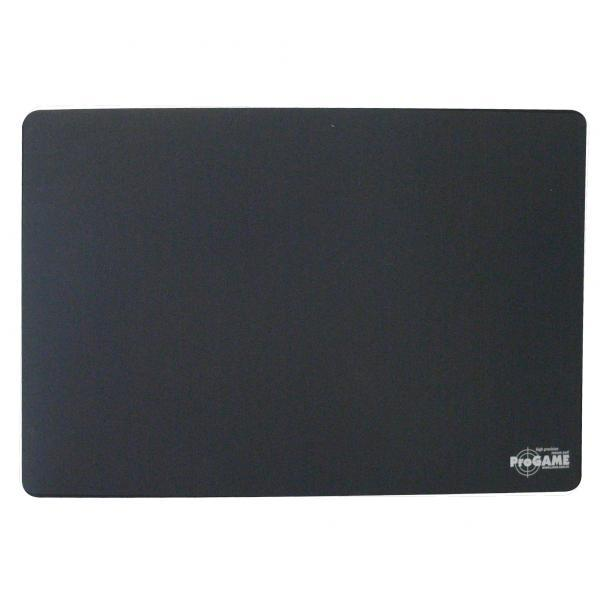 Mouse pad, ProGAME, with special surface, black, LOGO, for optical and laser mice