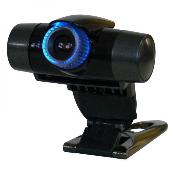 Logo Web cam Flexi, 1.3 Mpix, USB 2.0, black and silver, for laptop/LCD/table