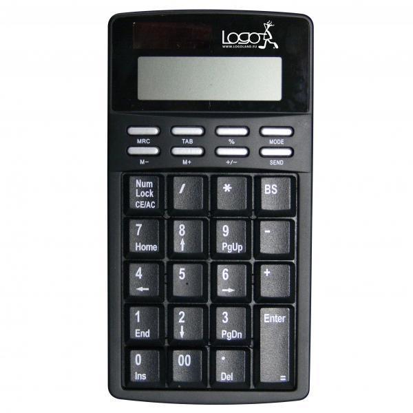 LOGO keyboard Solar, numeric, black, wire (USB), US