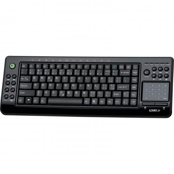 LOGO keyboard Exclusive, multimedia, 2.4 [Ghz], black, wireless, CZ, intelligent touchpad