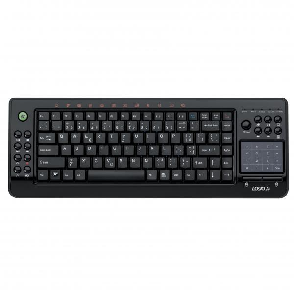 LOGO keyboard Exclusive II, AA, multimedia, 2.4 [Ghz], black, wireless, CZ, intelligent touchpad, 2.4 GHz