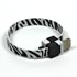 USB cable (2.0), USB A M- USB micro M, 0.25m, black and white, Logo, blistr, bracelet