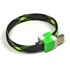 USB cable (2.0), USB A M- USB micro M, 0.25m, black and neon, Logo, blistr, bracelet
