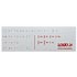 Keyboard labels LOGO for keyboards, red, German, price for 1pc